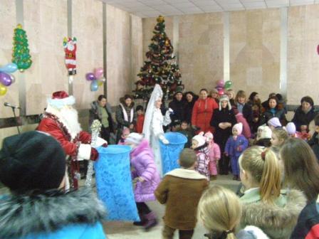 Новогодний праздник в доме культуры
