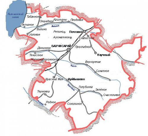Административно-территориальное устройство Бахчисарайского района