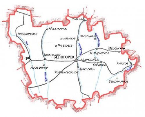 Административно-территориальное устройство Белогорского района