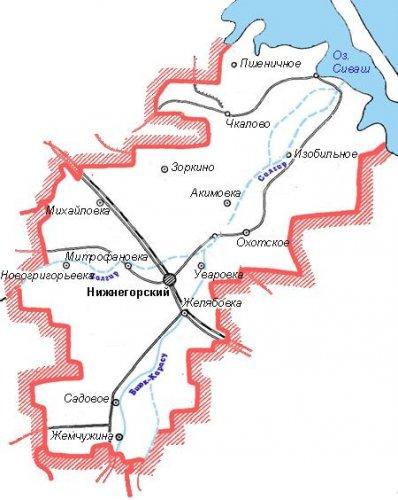 Административно-территориальное устройство Нижнегорского района