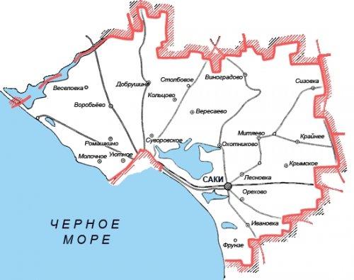 Административно-территориальное устройство Сакского района