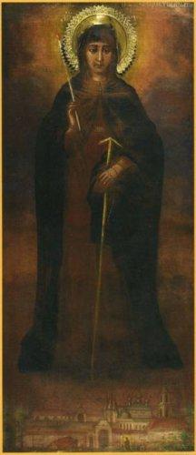 Икона Божией Матери ВРАТАРНИЦА Угличская (НЕУГАСИМАЯ СВЕЧА)
