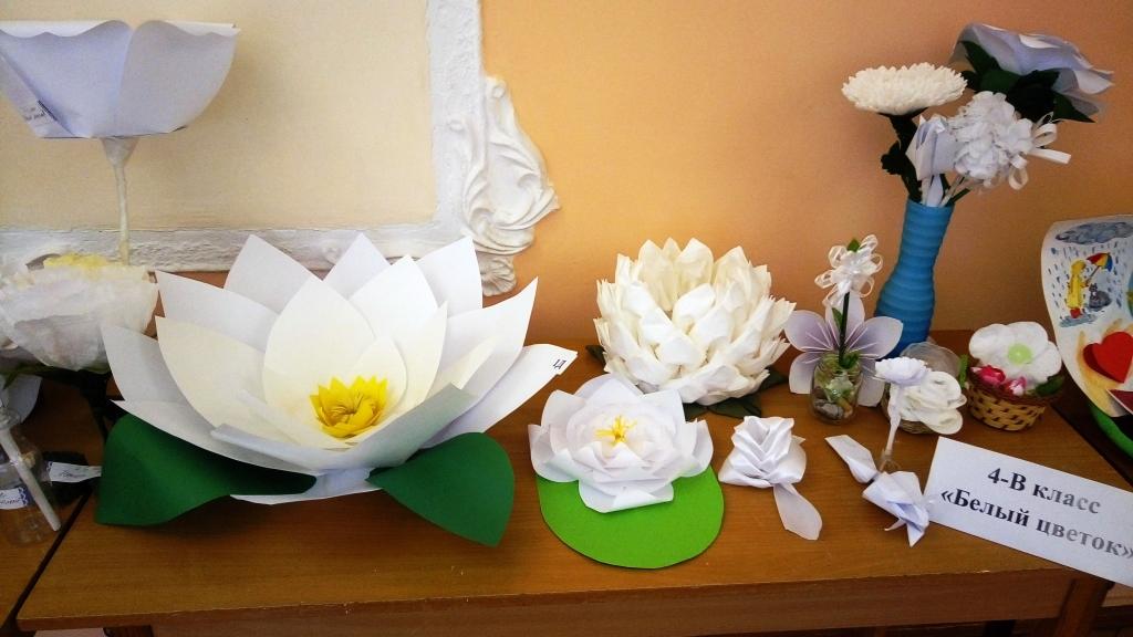 Цветы для акции белый цветок своими руками из бумаги