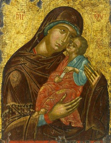 Икона Божией Матери «СЛАДКОЕ ЛОБЗАНИЕ» («Гликофилу́са», сладколобзающая)