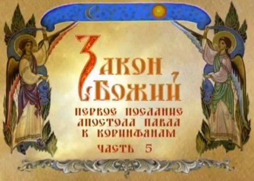 Видеокурс «Закон Божий» Часть 4. Новый Завет. Первое послание апостола Павла к Коринфянам. Часть 5