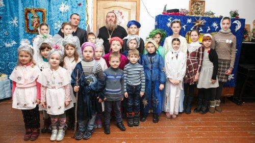 Рождественский утренник воскресной школы при храме Всех Крымских святых в поселке Гвардейское Симферопольского района